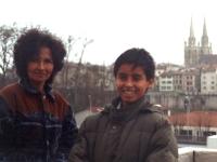 Avril 92: Inoubliable Bayonne, pour Albeiro et sa mère (Photo V.Etienne)