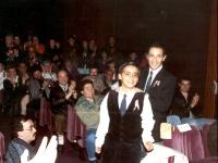 4 avril 1992: Le théâtre de Bayonne est plein, pour le torero et l'enfant. (Photo Bernard)