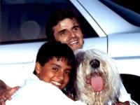 Août 1992: Albeiro de retour, avec le président et... un ami de rencontre.